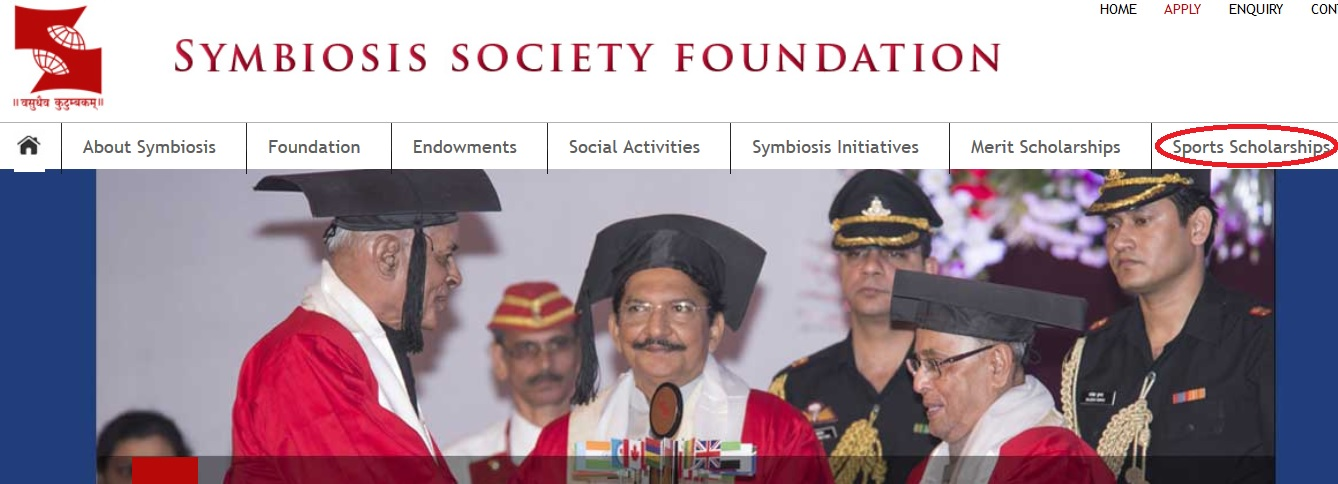 symbiosis society foundation sports scholarship 2018