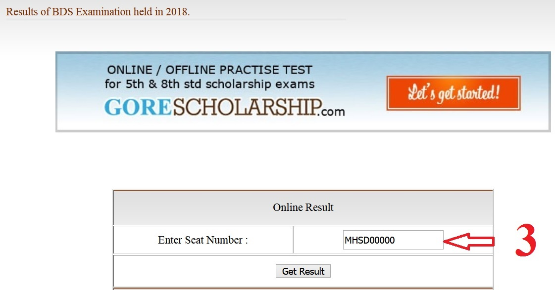 Check Result Exam Online