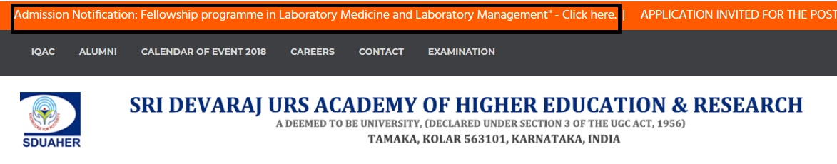 SDUAHER Fellowship Program In Laboratory Medicine & Management 2018