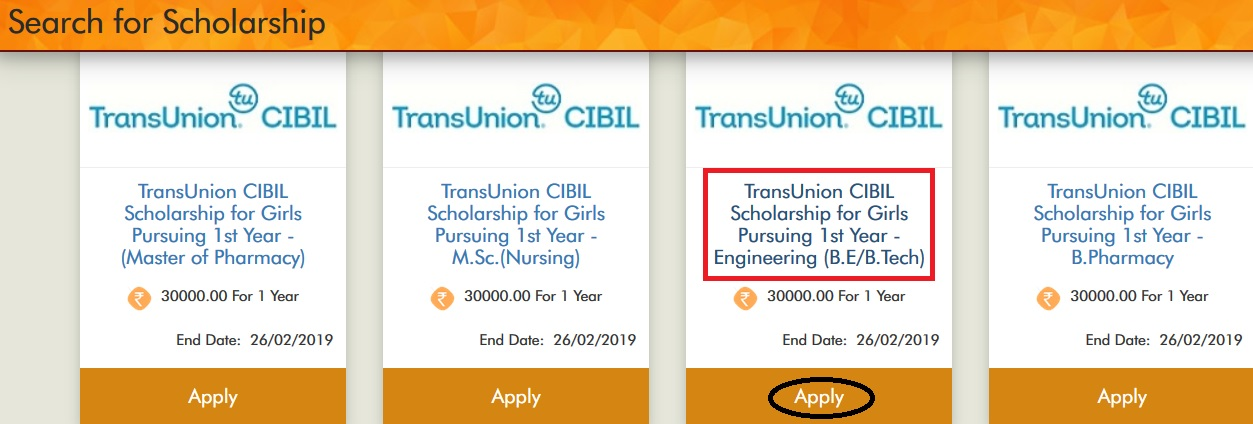 Vidyasaarathi TransUnion CIBIL Scholarship For B.E/B.Tech ...
